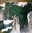 峨眉山水图2,张大千,中国近代大师名画,悬崖 海拔 雄伟