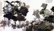 巨荷四连屏,张大千,中国近代大师名画,墨色 荷叶 荷花 池塘 浓淡