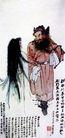 归妹图,张大千,中国近代大师名画,古诗 情景 相遇 人物 对视
