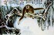 长臂猿,张大千,中国近代大师名画,