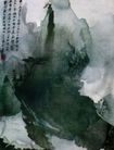 黄山文笔峰,张大千,中国近代大师名画,