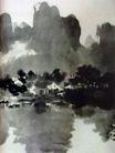 漓江春雨2,徐悲鸿,中国近代大师名画,