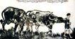 牧童与牛,徐悲鸿,中国近代大师名画,