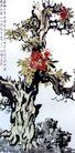 石楠花,徐悲鸿,中国近代大师名画,