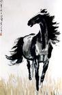 立马之一,徐悲鸿,中国近代大师名画,