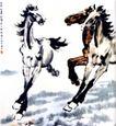 群奔,徐悲鸿,中国近代大师名画,奔马 飞腾 速度