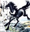 群奔2,徐悲鸿,中国近代大师名画,黑马 跨越 飞速