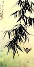 雀竹,徐悲鸿,中国近代大师名画,小鸟 柳树 垂柳