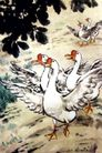 鹅闹,徐悲鸿,中国近代大师名画,
