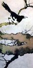 鹊,徐悲鸿,中国近代大师名画,