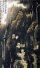 横云岭外千重树,李可染,中国近代大师名画,