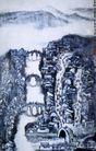 江城朝市,李可染,中国近代大师名画,