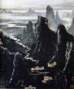 江山无尽(b),李可染,中国近代大师名画,