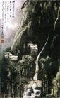 流水声中一两家,李可染,中国近代大师名画,