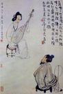 浔阳琵琶,李可染,中国近代大师名画,