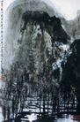 清山密林图,李可染,中国近代大师名画,