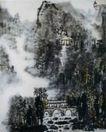 烟雨桥亭,李可染,中国近代大师名画,