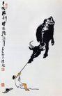 犟牛图,李可染,中国近代大师名画,