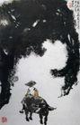 老松无华万古青,李可染,中国近代大师名画,牧童 倒骑 黑牛