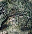 苏州拙政园,李可染,中国近代大师名画,
