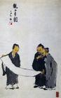 观画图,李可染,中国近代大师名画,
