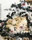 盛夏图(d),李苦禅,中国近代大师名画,