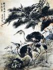 秋原远眺,李苦禅,中国近代大师名画,