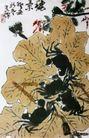 秋景,李苦禅,中国近代大师名画,