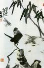 竹与鸟,李苦禅,中国近代大师名画,