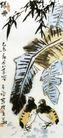 绿雨,李苦禅,中国近代大师名画,