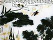 荷荡远沙图,李苦禅,中国近代大师名画,