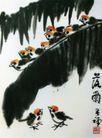 落雨,李苦禅,中国近代大师名画,