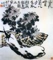 重九赏菊  八月食瓜,李苦禅,中国近代大师名画,李苦禅 大师 画作