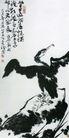 鸬鹚,李苦禅,中国近代大师名画,