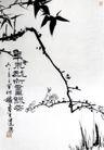 梅竹图,潘天寿,中国近代大师名画,