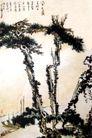 江洲夜泊图,潘天寿,中国近代大师名画,