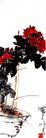 盆菊,潘天寿,中国近代大师名画,