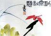 红蜻蜓,潘天寿,中国近代大师名画,