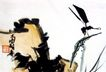 蜻蜓荷石,潘天寿,中国近代大师名画,