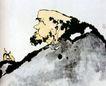 达摩,潘天寿,中国近代大师名画,