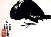 雏鸡,潘天寿,中国近代大师名画,