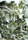 设色山水1,黄宾虹,中国近代大师名画,