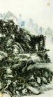 设色山水14,黄宾虹,中国近代大师名画,