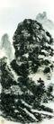 设色山水15,黄宾虹,中国近代大师名画,