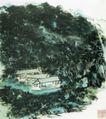 设色山水2,黄宾虹,中国近代大师名画,