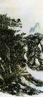 设色山水22,黄宾虹,中国近代大师名画,山底 凉亭 密林