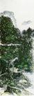 设色山水23,黄宾虹,中国近代大师名画,世外 仙境 荒芜
