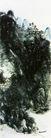 设色山水28,黄宾虹,中国近代大师名画,漆黑 山势 远景