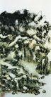 设色山水31,黄宾虹,中国近代大师名画,