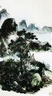 设色山水32,黄宾虹,中国近代大师名画,